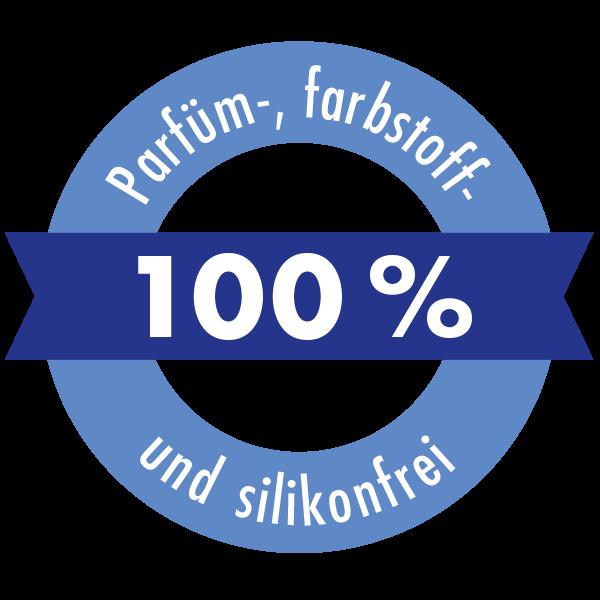 100 % Parfüm-, farbstoff- und silikonfrei