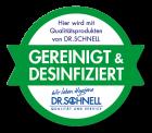 Hygienesiegel Gereinigt & Desinfiziert, Packung à 100 Stück