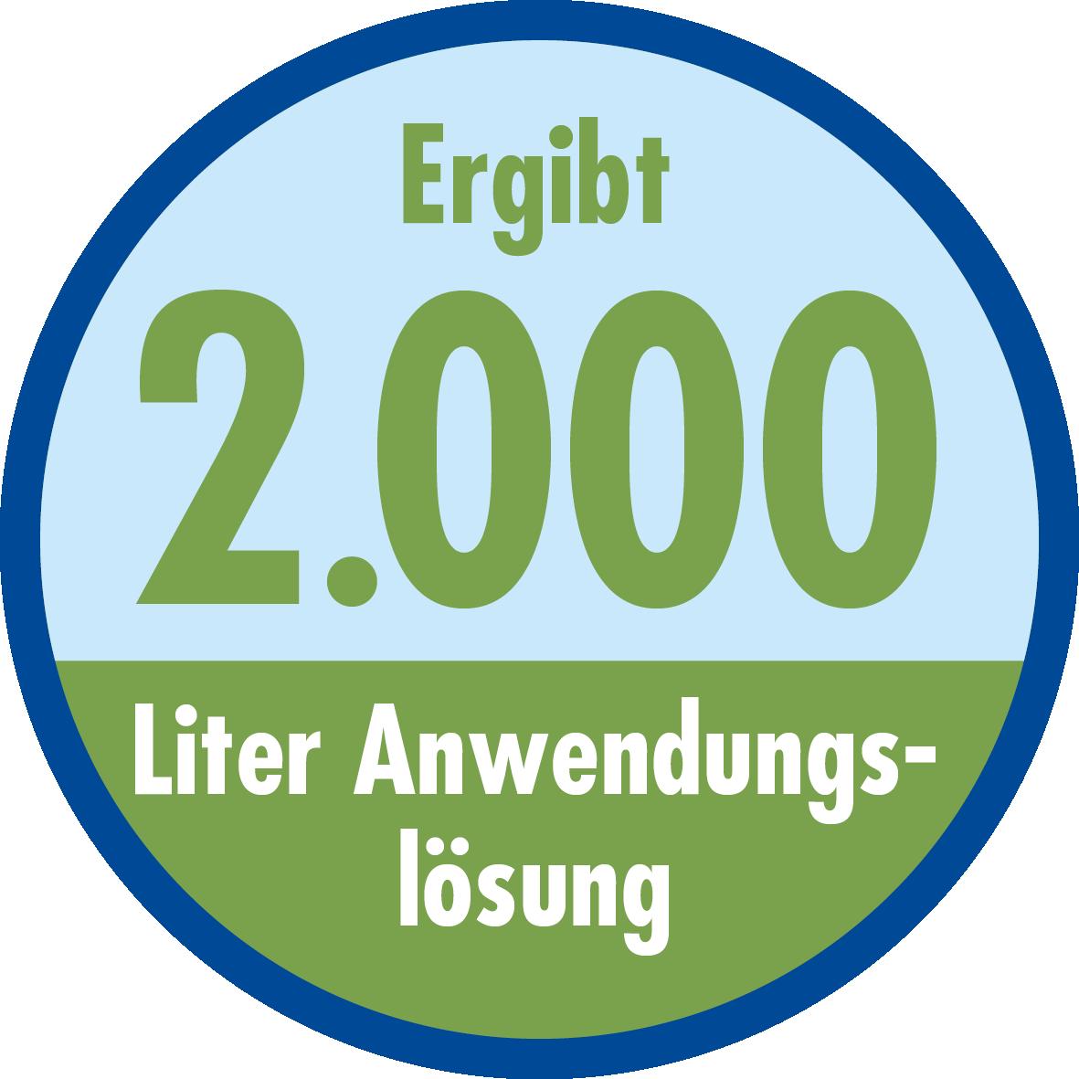 Goed voor 2.000 liter applicatieoplossing