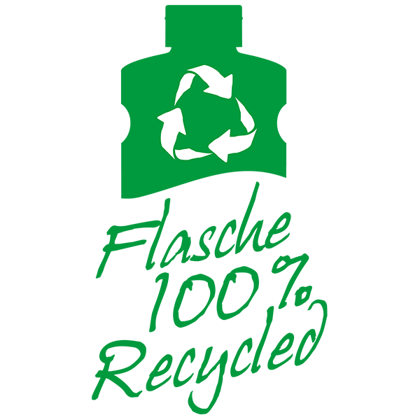 Flasche 100% recycled